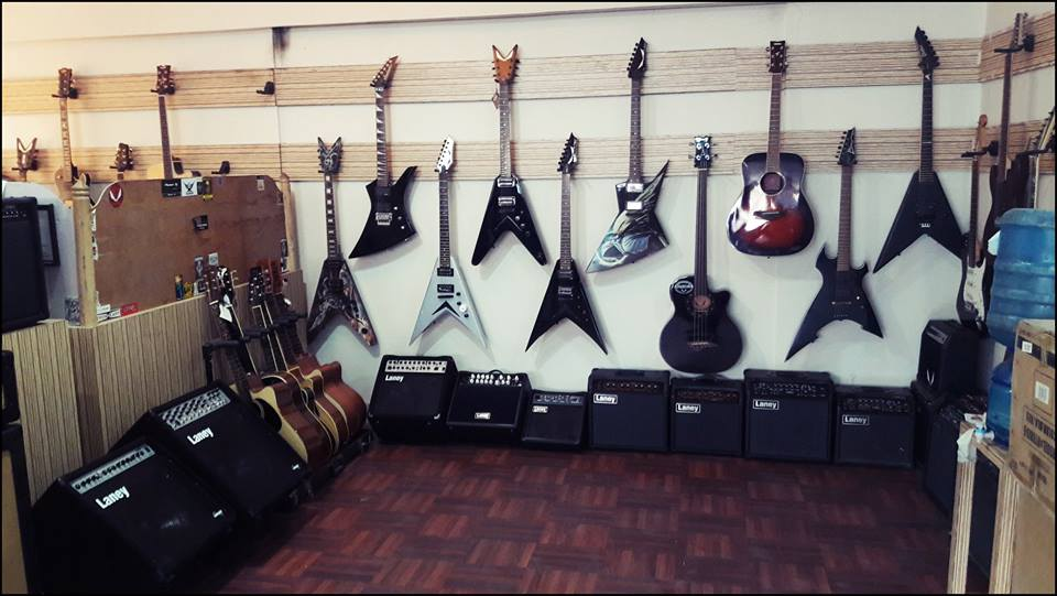 Various Fancy Looking Guitars and mini Amps! Pic:- Tone Music Store FB page